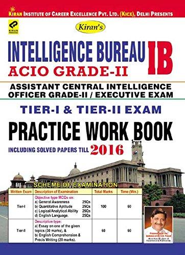 Intelligence Bureau ACIO Grade-II/Executive Exam Tier-I & Tier-II PWB - 1991