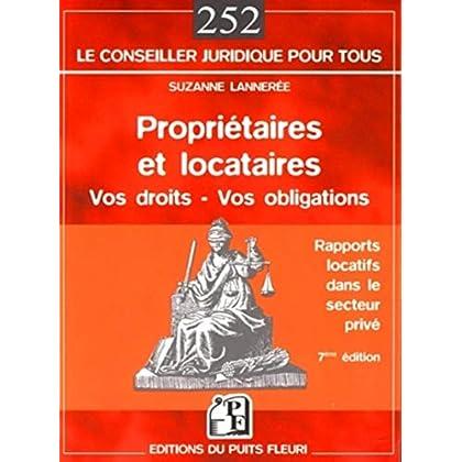 Propriétaires et locataires: Vos droits - Vos obligations. Rapports locatifs dans le secteur privé