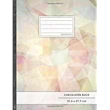 """Checklisten-Buch: DIN A4 • 70+ Seiten, Soft Cover, Register, """"Pastellic"""" • #GoodMemos • 18 Checkboxen + Platz für Notizen/Seite (inkl. Register mit Datum uvm.)"""