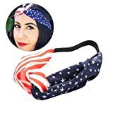 Amerika Flagge Patriotische Stirnbänder USA Fahne Elastische Turban Bandana Kopf Wrap für Patriotische Veranstaltung