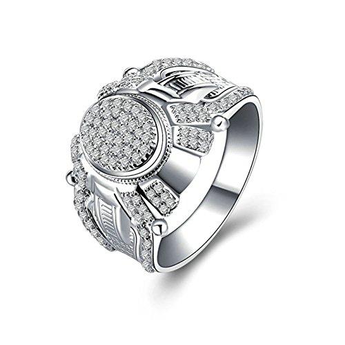(Custom Ringe)Adisaer Ring 925 Sterling Silber Damen Oval Kristall CZ Muster Strass Verlobungsring Größe 65 (20.7) Kostenlos Gravur (Pharao Kostüm Muster)