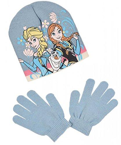 8d00e9d5384 Bonnet et gants enfant fille La reine des neiges Elsa 3 coloris de 3 à 9ans