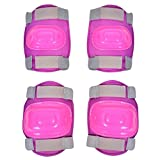 Protective Girls Skate Knee, Elbow and Wrist Pads Pack of 6 Pink