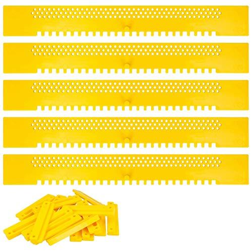 Lantelme Fluglochschieber 5 Stück Bienen Fluglochverkleinerer Scharnier Set Imker Imkereibedarf Bienenflucht gelb 2937