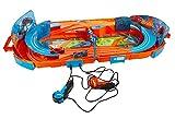 KIDZTECH - Valise Circuit Compatible Avec Hot Wheels - Licence Officielle - Mallette avec Circuit de Course Intégré - Longueur 170 CM - avec 2 Voitures - Rangement Facile - À partir de 5 Ans