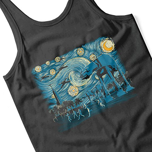 Starry Night At Scarif Rogue One Women's Vest Black