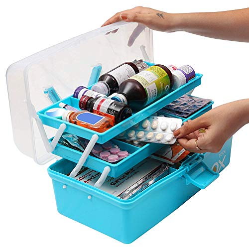 Alexindia marketing Storage Repair Tool Box Case Portable 3 Compartments/Layers Multipurpose Medicine Organiser