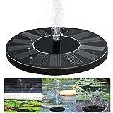 Solar Powered Pompa fontana 1.4W Floating design Circle pompa da giardino acqua per Per uccelli, stagno Giardino, Rockery Fontana, cascate, paesaggio e giochi d'acqua