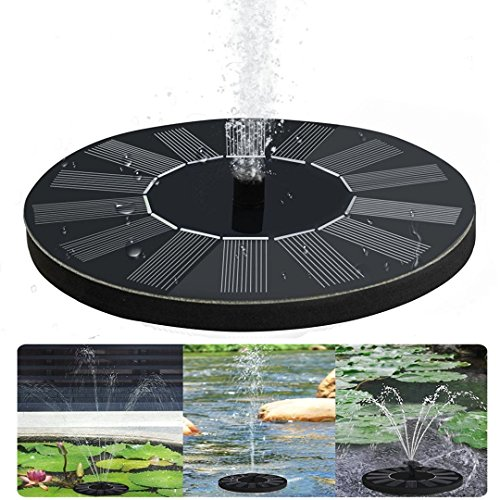 solar springbrunnen teichpumpe f r garten solarbatterie brunnen und pumpen mit monokristalline. Black Bedroom Furniture Sets. Home Design Ideas