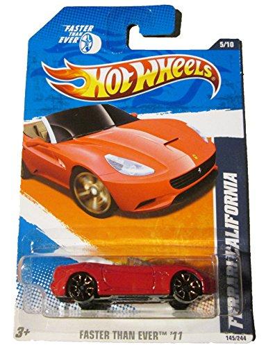 2011 Hot Wheels Ferrari California Red #145/244 by Mattel