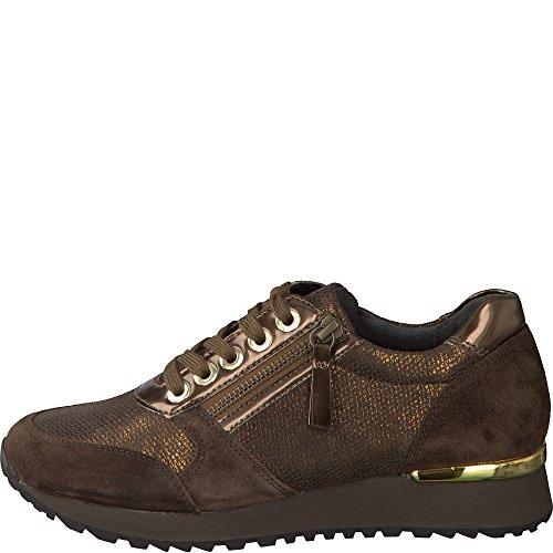Gabor 76.375.61, Chaussures À Lacets Pour Femmes En Bronze