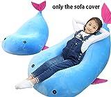 Quwei Pocket, poltrona comoda singola per bambini piccoli., Blue, Pouf poire complet