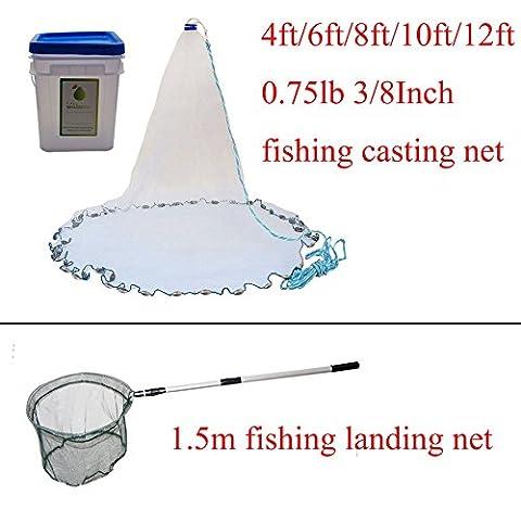 Shaddock Fishing ® Bait Clear Cast Net 3/8