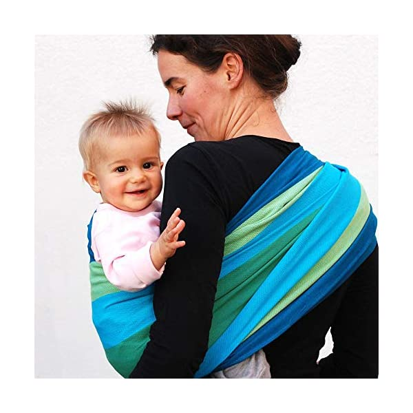 Didymos Iris Baby Wrap Sling (Size 6) Didymos Various carrying positions, in front, sideways an on the back Special, diagonally stretchable cloth to give optimal support Holds your baby in the atomically correct posture 1