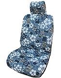 Winnie Fashion Gray Aloha Hibiscus Autositzbezüge, im Hawaii-Look, mit Hibiskus-Motiv, Grau