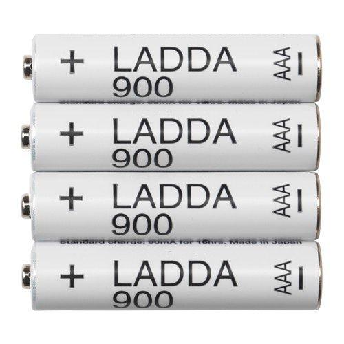 Ikea ladda Baterías Recargables; 900; HR03AAA 1.2V; 4unidades)