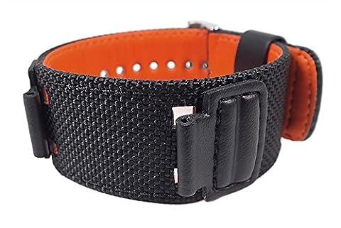 Casio Ersatzband Uhrenarmband Textil Band schwarz für G-303B G-353B AW-591MS DW-5600B