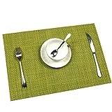 6er Set Tischsets U'Artlines Waschbare Platzsets Rutschsicher Hitzebeständig Platzdeckchen 45*30cm(Grün) - 5