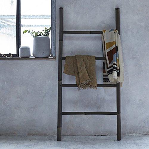 Tikamoon Echelle - Bambou - Noir - 70 x 5 x 150 cm