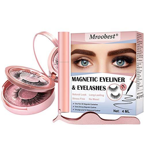 Scopri offerta per Ciglia Magnetiche con Eyeliner Magnetico Eyeliner magnetico Ciglia Magnetiche Impermeabile Liquido Eye Liner Pen Magnetico Reusable 3D Naturali Ciglia Finte Magnetiche + pinzette