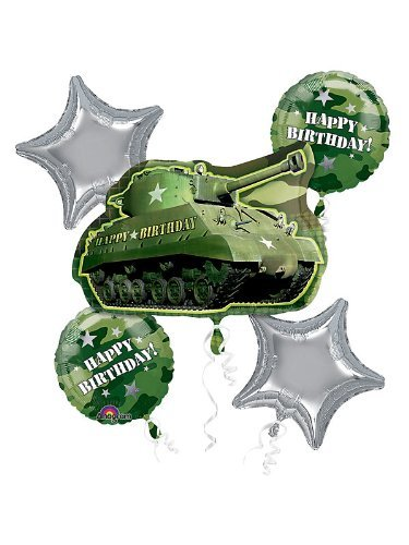 Camouflage Birthday Bouquet (5 per package)