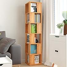 SUBBYE Einfache Bücherregal Student Kreative Bücherregal 360 ° Drehbare  Standregal Multifunktionale Wohnzimmer Schließfächer Größe Optional (