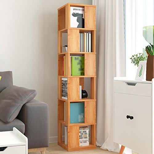 SUBBYE Multifunktions Drehbare Student Bücherregal Floorstanding Wohnzimmer Bücherregal Kreative Schließfächer Einfache Bücherregal
