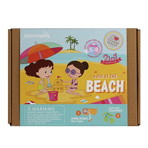 A day at the Beach 2-in-1 Craft Kit -- Great gift for girls ages 5 to 8 years
