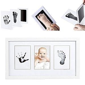 almohadilla bebe: LawUza Juego de Almohadillas de Tinta para Huellas de bebé Recién Nacido, con 2 ...