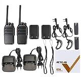 Retevis RT24 Walkie Talkie PMR Funkgerät Set 16 Kanäle UHF EU-Standardstecker Wiederaufladbar Funkgerät mit Headset (5 Paar, Schwarz) Vergleich