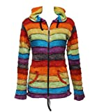 Search : The Hippy Clothing Co. Stonewashed Rainbow Striped Hoodie
