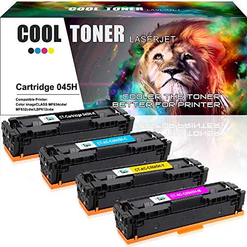 Cool Toner 4 Compatible de Toner pour Canon 045H 045 pour Canon i-Sensys MF635cx MF633cdw LBP613cdw...