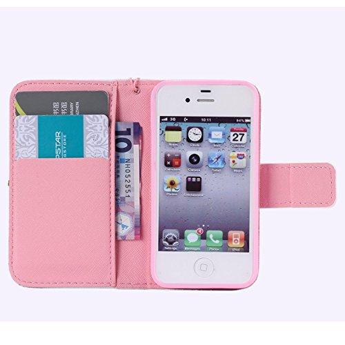 Schutzhülle für Apple iPhone 4S 4 case Wallet Leder Schale Tasche Magnet PU Hülle Handy Silikon Back Cover Etui Skin Shell Purse Portemonnaie Geldbörse(Standfunktion,Kreditkartenfach,Stylus,folie,Rein Heiratsantrag stellen