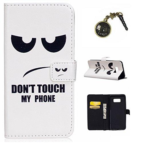 Preisvergleich Produktbild Galaxy S8 Plus Case Leder Tasche Case Hülle im Bookstyle mit Standfunktion Kartenfächer für (Samsung Galaxy S8+ / S8 Plus (6,2 Zoll) Hülle +Staubstecker (3)
