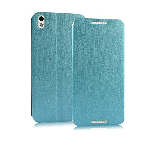 CaseMachinee Premium Luxury PU Leather Flip Stand Back Case Cover For HTC Desire 816 816G - Blue