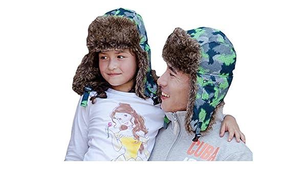 Chapeau De Ski Chapeau Russe Chapeau Chaud Hiver Parents Et Enfants  Jeunesse Protection des Oreilles en Plein Air Hiver épaississement ... 3efdf0fd904
