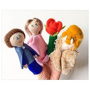 Finger Wolle Puppen Die Schöne und das Biest