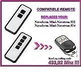 Novoferm Mini-Novotron 522 Design, Novoferm Mini-Novotron 524 Design *NEW DESIGN compatible mando a destancia 433,92Mhz rolling code, 4-canales reempl