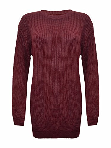 Comfiestyle - Robe - Pull - Manches Longues - Femme Bordeaux