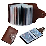 #8: DALUCI Leather Business Credit Card Holder (Brown)