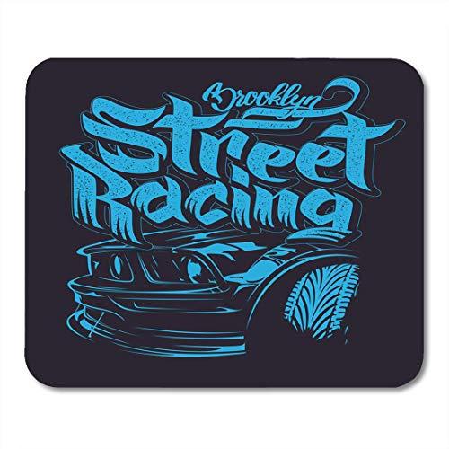 rt Racing Car Graphics Schriftzug Race Hot Wheel Rod Mousepad für Notebooks, Desktop-Computer Mauspads, Bürobedarf ()