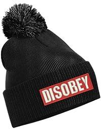 TTC Black Disobey bobble hat
