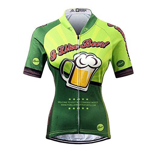 Thriller Rider Sports® Damen I Like Beer Sport & Freizeit MTB Fahrradbekleidung Radtrikot X-Large