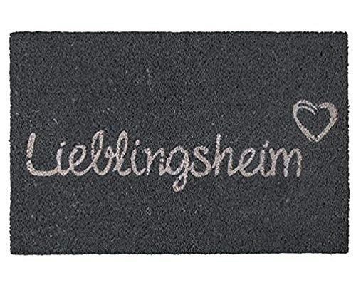 Deko Kokos Fußmatte Fussmatte Antirutschmatte Schmutzfangmatte Fußmatten Kokosfasern - rutschfest - Motive Style Witzig - Große Auswahl - 40 x 60 cm (Lieblingsheim)