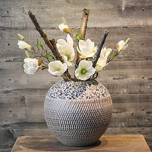 Künstliche Blume, Keramik-Vase Dekoration Kreatives Wohnzimmer Porch Weinkabinett Schaukel Field-Arrangement Home Soft Decoration,C