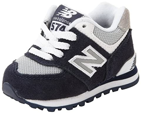 New Balance - - Unisex-Baby Rugby 574 Infant Classic Shoes, Navy/White, 21 EU