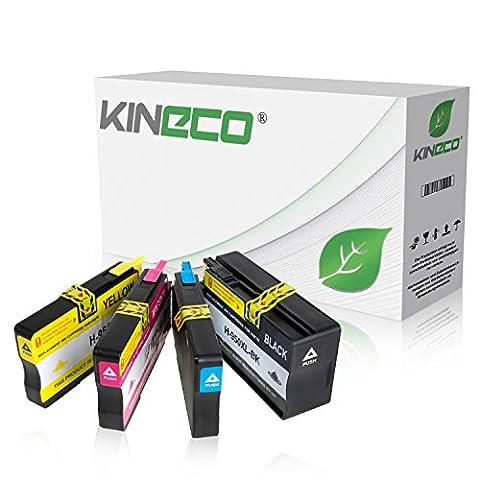 4 Tintenpatronen kompatibel zu HP 950XL/951XL für HP Officejet Pro 8610 e-All-in-One Officejet Pro 8620 e-All-in-One Officejet Pro 8100 ePrinter Officejet Pro 276dw 251dw - CN045AE CN046AE CN047AE CN048AE - Schwarz 83ml Color je