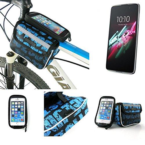Bolso Bolsa Funda Bicicleta para Alcatel One Touch Idol 3 4,7 Zoll,...