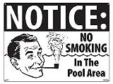 Poolmaster Schild–No Smoking–Retro