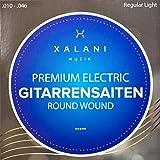E-Gitarren-Saiten .010 I  Bonus: 1 hohe E-Saite und 3 Plektren gratis  I Premium Gitarrensaiten Nickel für alle E-Gitarren I XALANI MUSIK